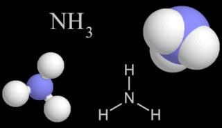 Молекула нитрида водорода