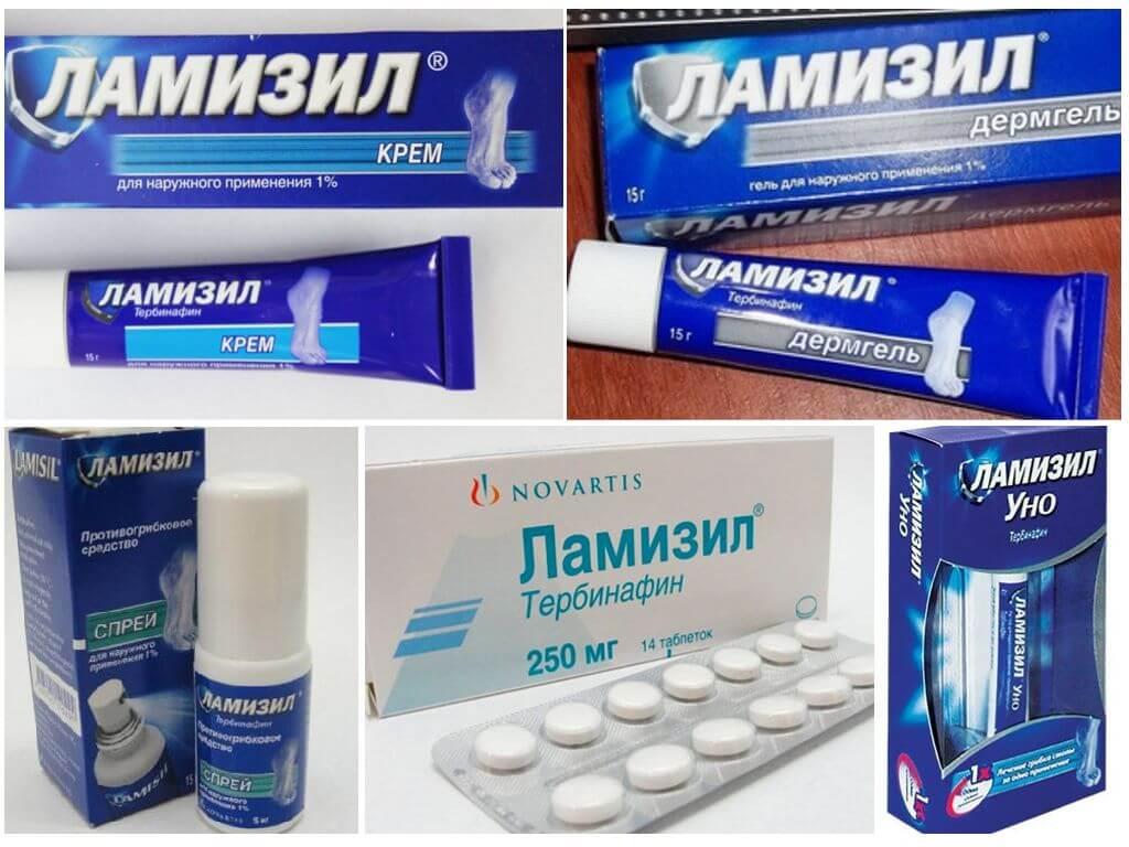 Лекарственные формы и состав препарата «Ламизил»