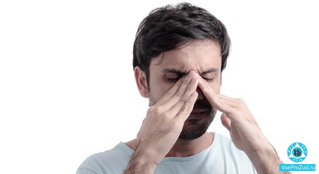 Локализация зуда носа