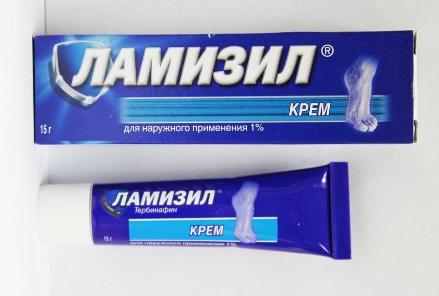 Применение крема Ламизил