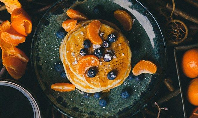 Еда - блинчики с апельсином