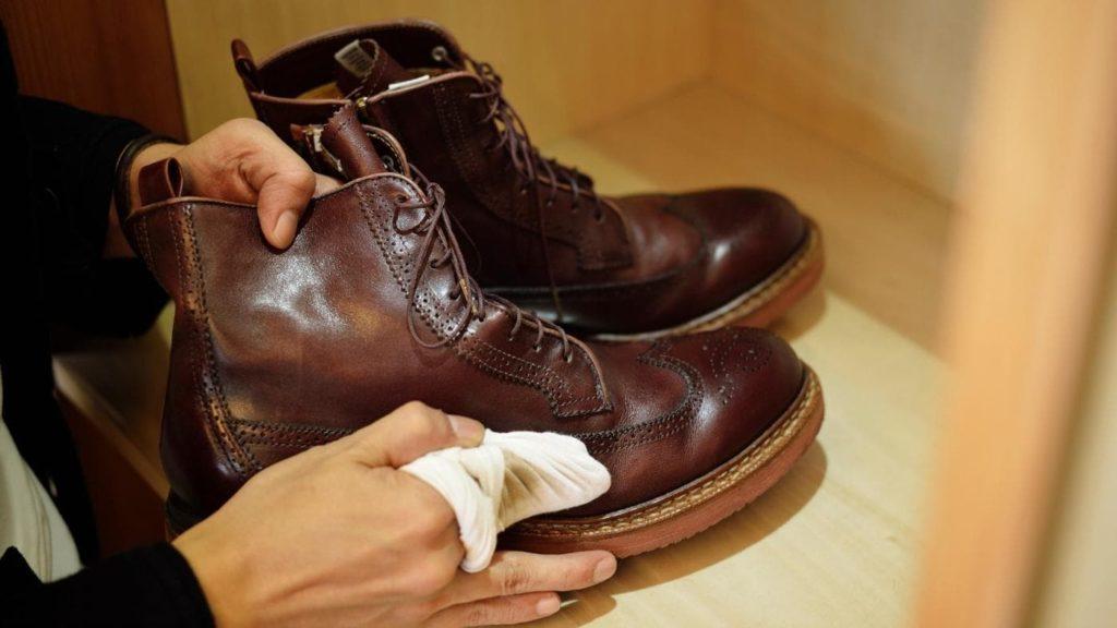 Обработка уксусом обуви