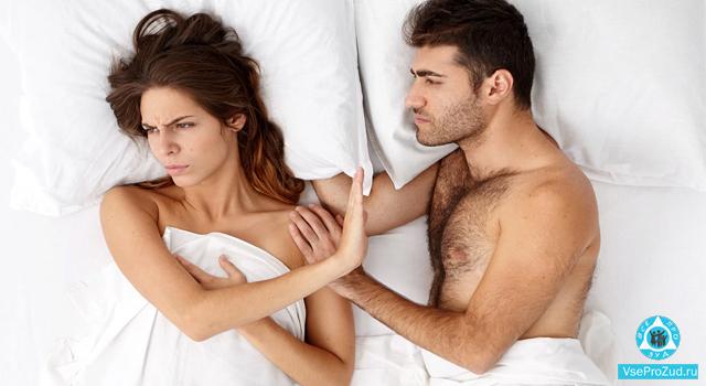 зуд во время полового акта у партнеров