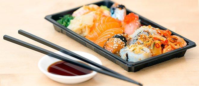 Морепродукты, кунжут, лосось