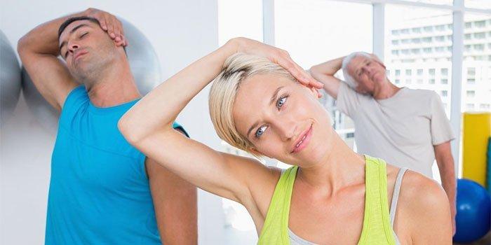 Упражнения при защемлении шейного нерва