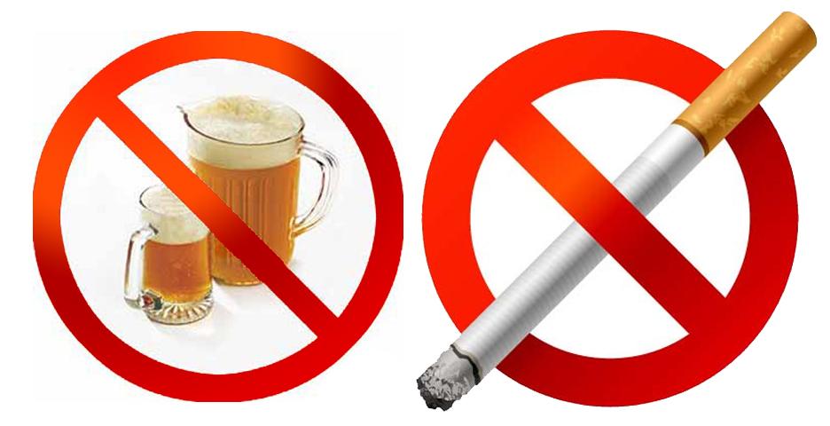 При липомах печени нельзя пить и курить