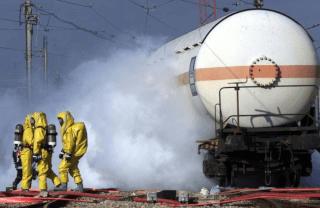 Утечка газа при аварии