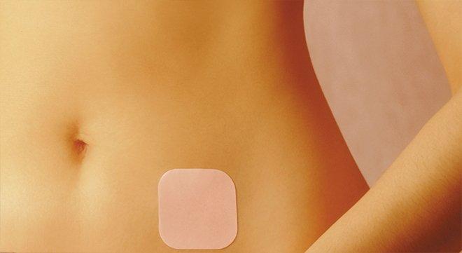 Контрацептивный пластырь на теле