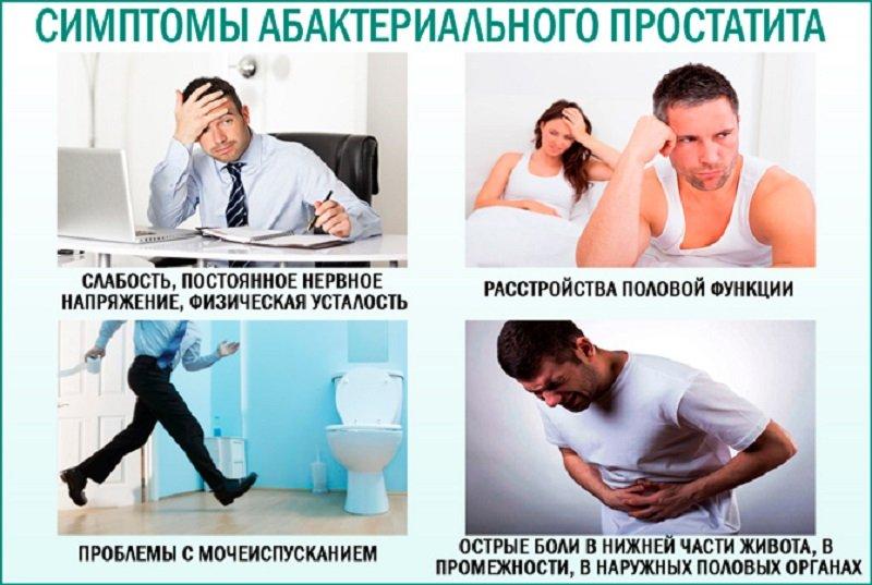 Первичные симптомы, по которым и обнаруживается заболевание, проявляются в виде частых болей в поясничной, тазовой области и промежности